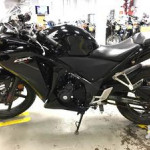 Very Clean And Neat Black Honda Cbr Power Bike For Sale